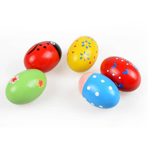 1PC Colorful Kids Wooden Maracas Ball Rattle Toy Sand Hammer Rattle Learning Musical Instrument Percussion Rattle Shaker for Bab