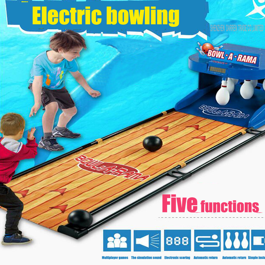 1PC Electric bowling children toy bowling set automatic rebound scoring lighting outdoor parent-child interaction game