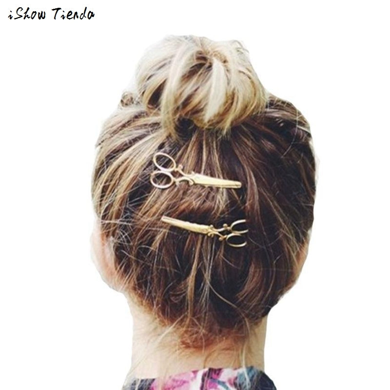 1PC Women Hairpin Scissors Pattern Hair Clip Hair Barrettes Apparel Accessories Headpiece #2415