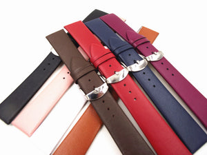 1PCS 12MM 14MM 16MM 18MM 20MM 22MM smooth grain genuine leather (cow split) watch band watch strap men and women straps WS0119