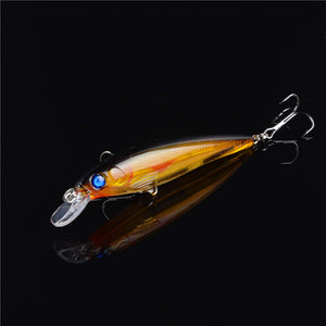 1PCS Floating Minnow Fishing Lure Laser Hard Artificial Bait 3D Eyes 11cm 13.4g Fishing Wobblers Crankbait Minnows