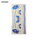 1PCS/New Fashion Flash Metalic Gold Blue Temporary Tattoo Body Paint Stickers