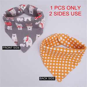 (1PCS ONLY) High quality cotton baby bibs Burp Cloths Fashion Animal Print baby bandana bibs dribble bibs