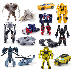 1PCS Transformation Kids Classic Robot Cars Toys For Children Action & Toy Figures free shipping