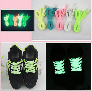 1Pair 32'' Luminous Glow In Dark Shoelace Athletic Sport Boot Shoe Laces Strings