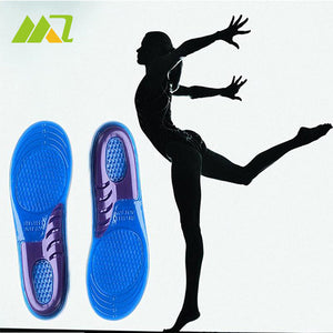 1Pair Shoe Insoles Gel Women Gel Orthotic Running Shoe Insoles Insert Pad Arch Support Cushion US6-9