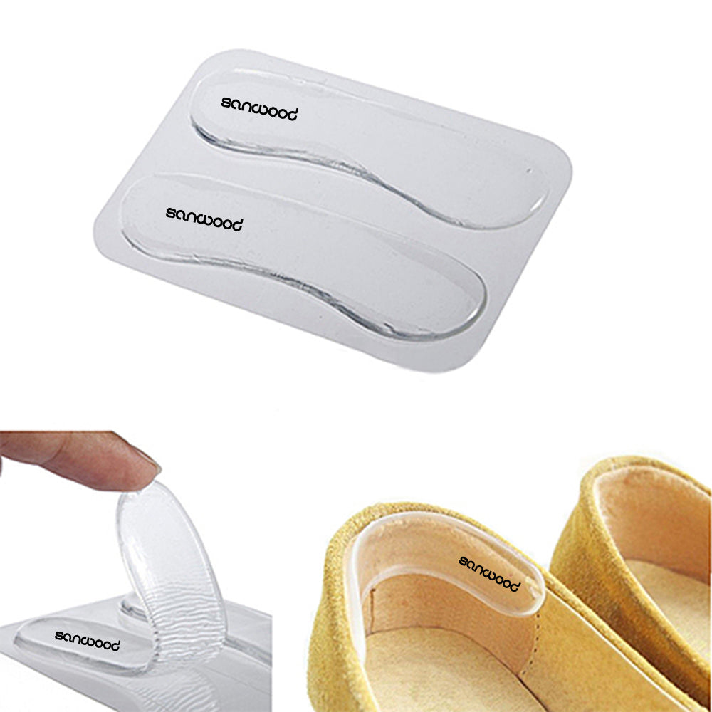 1Pair Silicone Gel Heel Cushion protect Foot feet Care Shoe Insert Pad Insole