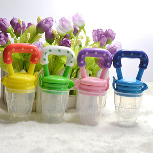 1Pc Baby Pacifier Fresh Food Milk Nibbler Feeder Kids Safe Nipple Feeding Baby Supplies Pacifier Bottles Random Color Size S M L
