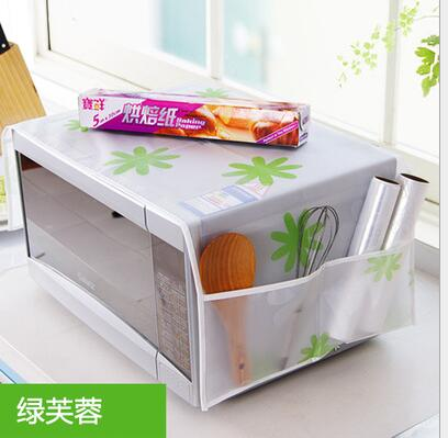 1Pc Romantic Microwave oven cover with 2 pouch dustproof cotton cloth cover romantic style microwave oven set