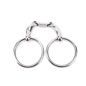 1Pc Stainless Steel Horse Snaffle Bit Loose Ring Bit Horse Equipment 12.5cm