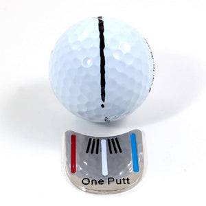 1Pcs Golf Hat Clip Ball Magnetic Cap Alloy Clips Golf Accessories 18g Outdoor Alignment Aiming Tools
