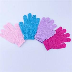 1Pcs Hot Sale Exfoliating Bath Gloves Scrubber Skid resistance Body Massage Sponge Gloves Shower Wholesale Random color