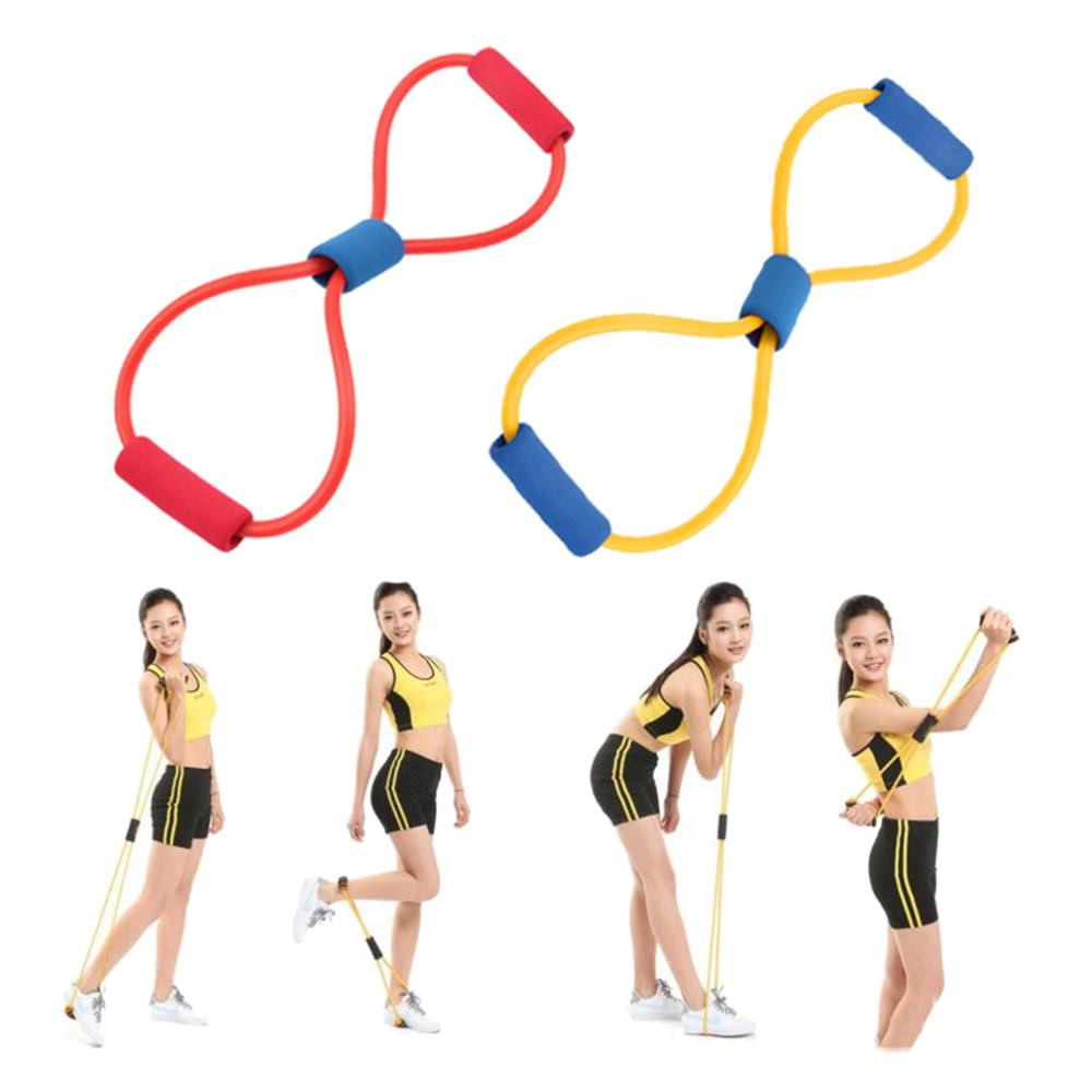 1Pcs Resistance 8 Type Muscle Chest Expander Rope Workout Fitness Exercise Yoga Tube Sports Pulling Exerciser free shipping