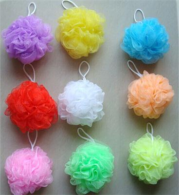 1Pcs Soft Feeling Bath Ball Tubs Cool Scrubber Shower Body Cleaning Mesh Shower Wash Nylon Sponge Products Bathing Accessories