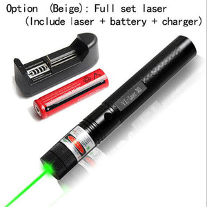 1Pcs Tactical Pen 532nm Powerful Green Laser Pointer 303 Adjustable Focus Lazer Light with Sky star Cap For 18650 Batteries