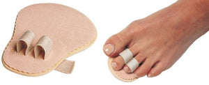 Cerkos Toe Straightener - Aligns & Straightens Overlapping, Crooked toes, Hammer Toe and Metatarsal Pain Relief - 2 Holes