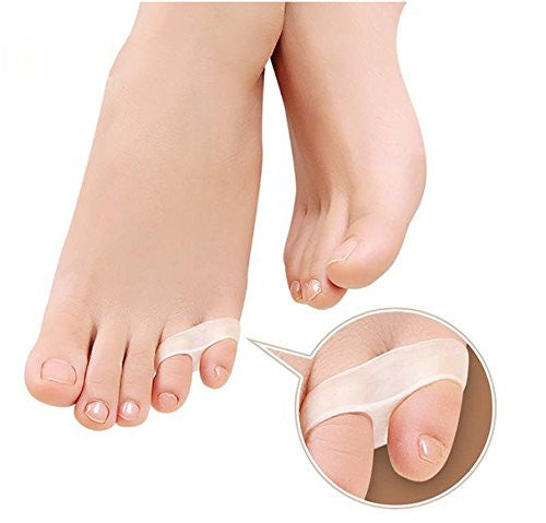 Cerkos Gel Tailor Bunion Two Holes Small Toe Separators Stretchers Straighteners Alignment