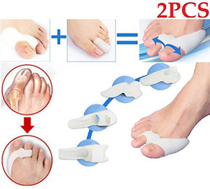 Cerkos Gel Toe Separators Stretchers Bunion Spacers Straightener Corrector Alignment - Cerkos