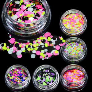 1g Nail Art Round Decorations New Mini Thin Mixed Colorful 1-3mm Designs Glitter Paillette Nail Art Tips Sticker P22-28
