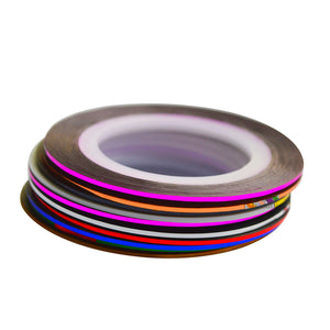1mm 10pcs/Lot Color Glitter Nail Striping Line Tape Sticker Set Nail Art Decorations DIY Tips For Polish Gel Manicure NC391