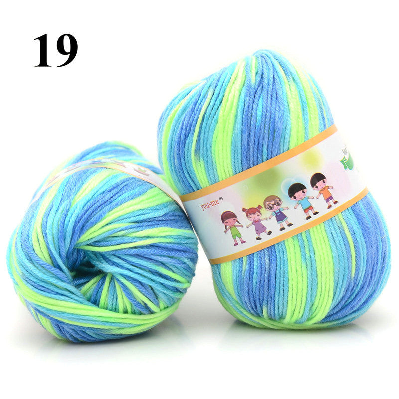 1pc Cotton Silk Knitting Yarn Soft Warm Baby Yarn for Hand Knitting Anti-Bacterial Eco-friendly Supplies 50g/pc