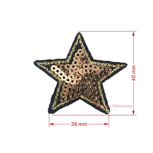 1pc Embroidered Iron On Patches Clothes Sequins Applique Brand Patch POP DIY Hotfix Motif Applique Miky Rainbow Star Duck