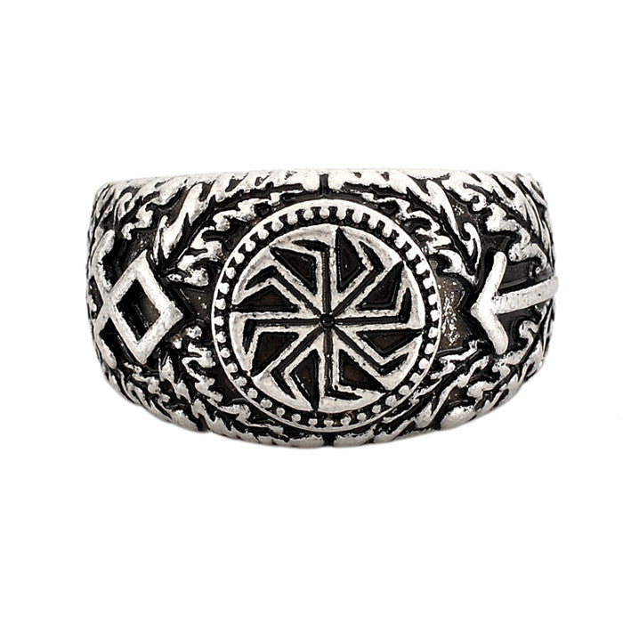 1pc Slavic Rings Kolovrat Signet Symber Runic Ring Scandinavian Norse Knot Anel Bague Men Jewelry