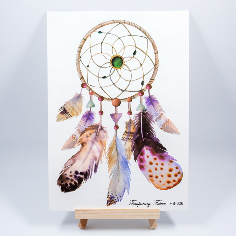 1pc new 3D dreamcatcher dream catcher shoulder tattoo 2 size Waterproof Temporary Tattoo sticker tatoos flash lace mandala girl