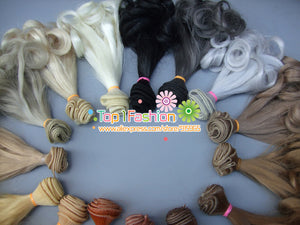 1pcs 15cm refires curly bjd hair for 1/3 1/4 BJD diy doll wigs