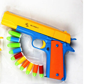 1pcs Classic m1911 Toys Mauser pistol Children's toy guns Soft Bullet Gun plastic Revolver Kids Fun Outdoor game shooter safety