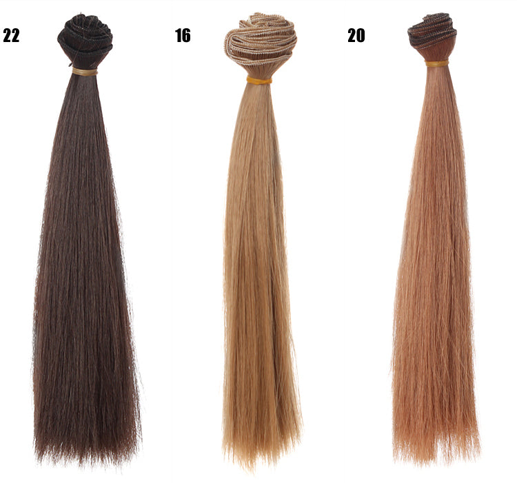 1pcs hair refires bjd hair 25cm*100CM black pink brown khaki white grey color long straight wig hair for 1/3 1/4 BJD diy