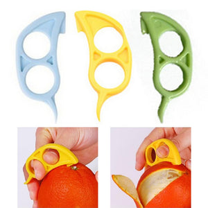 1pcs/lot Mouse Shape Orange Citrus Opener Peeler Remover Slicer Cutter Quickly Stripping Fruit Tool Randomly