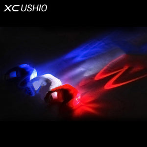 1x Waterproof Silicone Mountain Bike Cycling Light Front Rear Tail Lamp Flash Light Bicycle Handlebar Frame Wheel Warning Light - Cerkos.com
