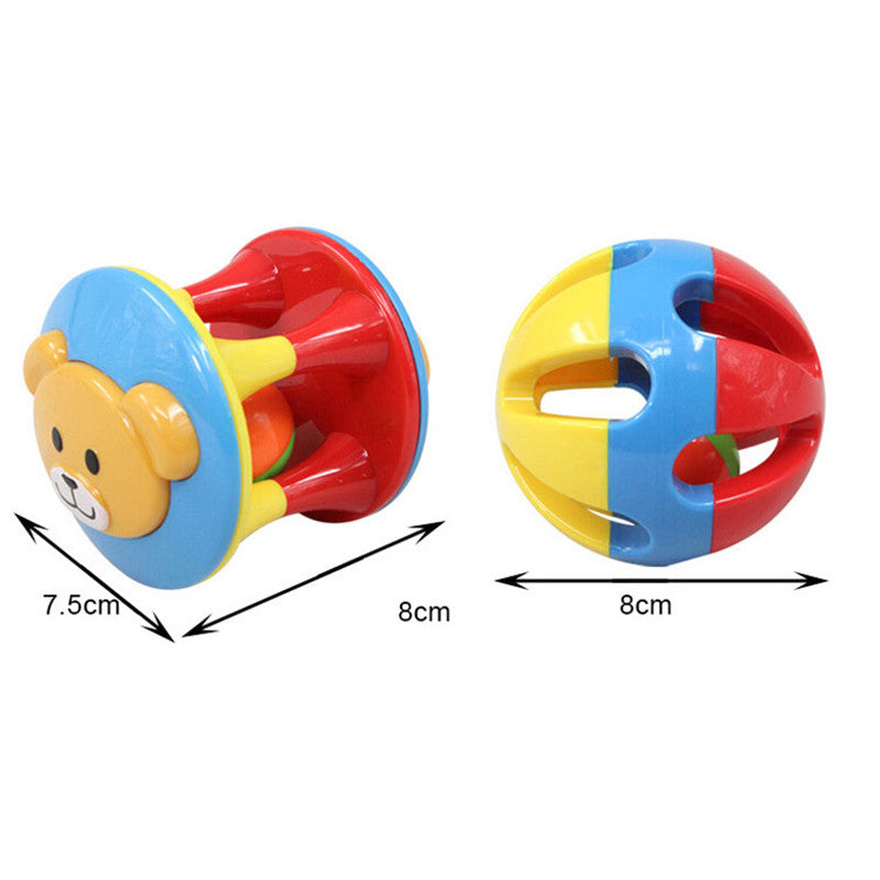 2 PCS/Set Lovely Funny Baby Rattles Plastic Music Novelty Hand Shake Bell Ring Early Learning Educational Toys Rattles toys Baby