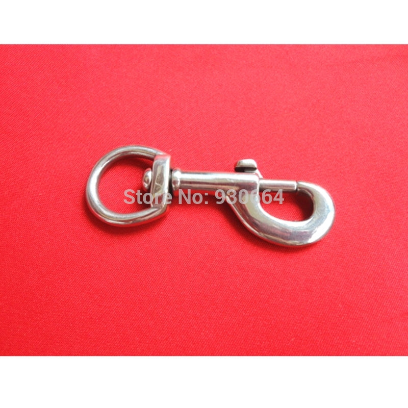 20 Pieces/Lot Stainless Steel Metal Silvery Curved Lobster Clasps Swivel Trigger Round Swivel Eye Bolt Snap Hook With Spring