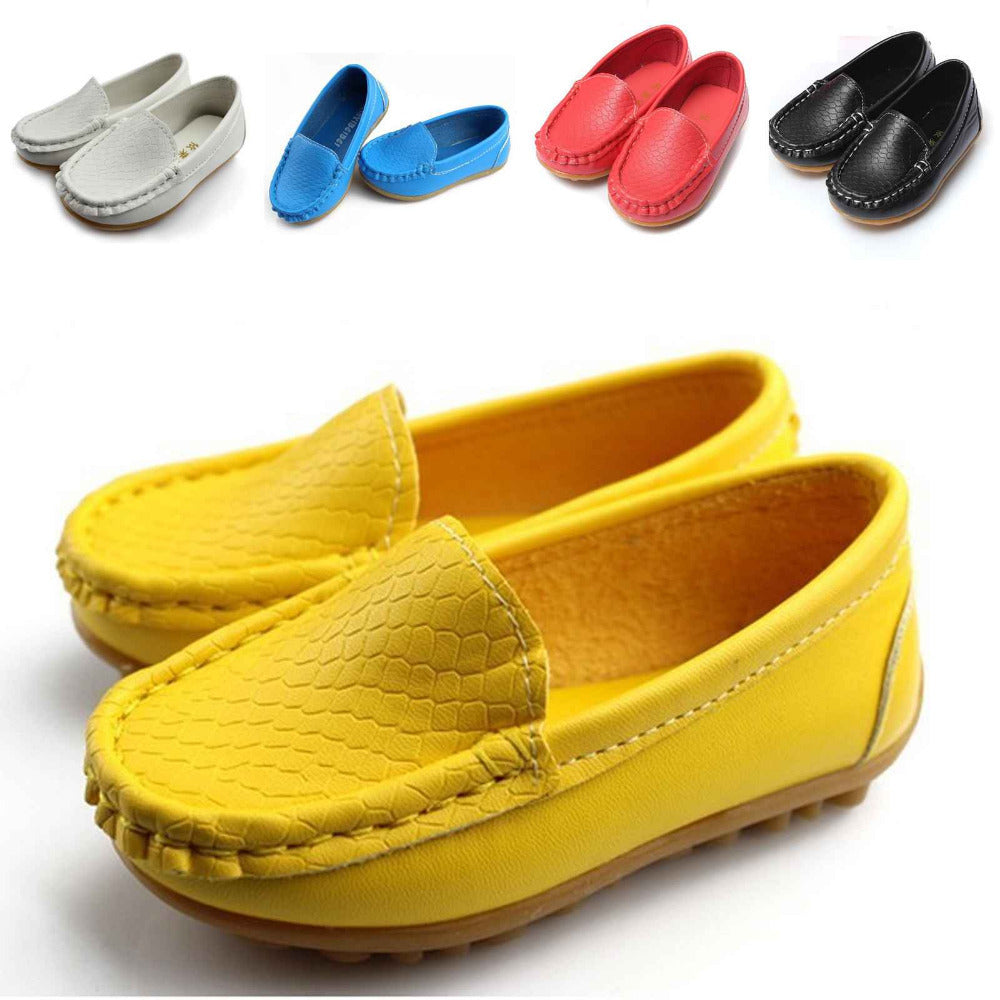 2015 Hot Sale New Children Shoes Kids Sneakers Flats With Boys And Girls Soft Leather Running Shoes Size 21-30 Free Shipping
