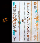 2015 body art temporary tattoo sex products bracelet flash tattoo metallic gold tattoos henna Gold Silver Black Flash Tattoos