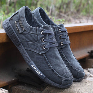 2016 Autumn Non-leather Casual Shoes Canvas Rubber Men Shoes Breathable Gumshoe Designer Male Footwear Denim Plimsolls RME-168