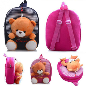 2016 Cartoon Kid School Backpack For Child School Bag For Kindergarten Girl Baby Student School Boy Cute bear Backpack P5
