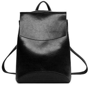2016 Design PU Leather Backpack Women Backpacks For Teenage Girls School Bags Black Summer Brand Vintage Backpack Mochilas Mujer