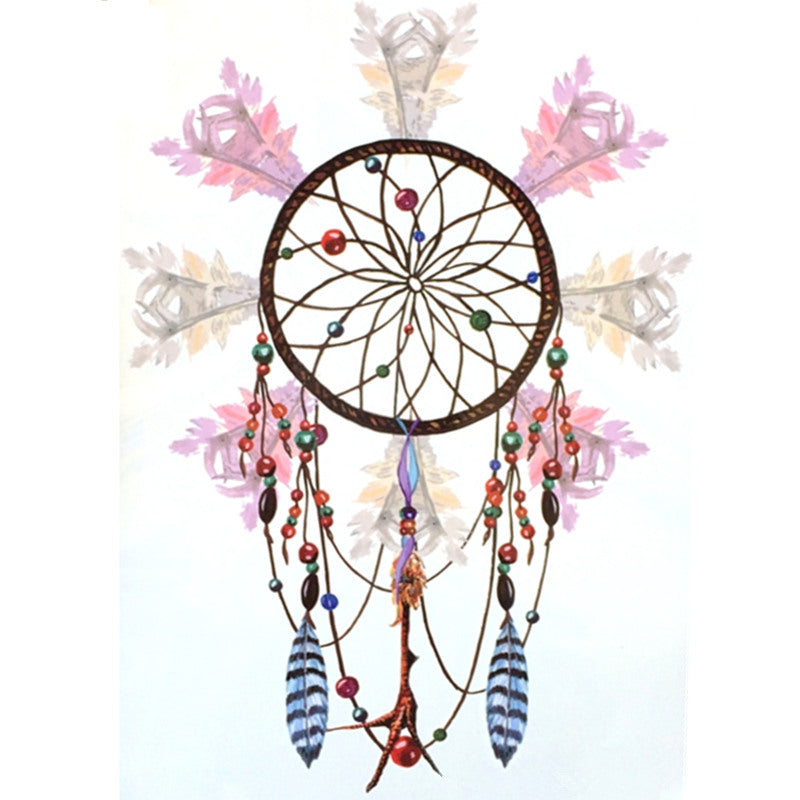 2016 NEW Fashion Waterproof Hot Temporary Tattoo Stickers 21 X 15 CM Light color Dreamcatcher