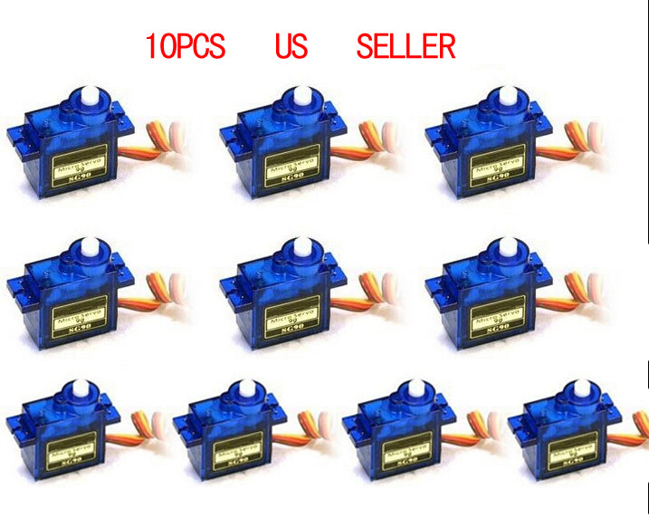 2016 New 10pcs SG90 Micro Servo motor 9g For RC 250 450 For RC Robot Airplane Helicopter Car Boat Free Shipping