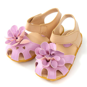 2016 New Arrival Summer Cool Baby Girls Sandals Shoes Skidproof Toddlers Infant Children Kids Flower Shoes PU Leather Size 21-30