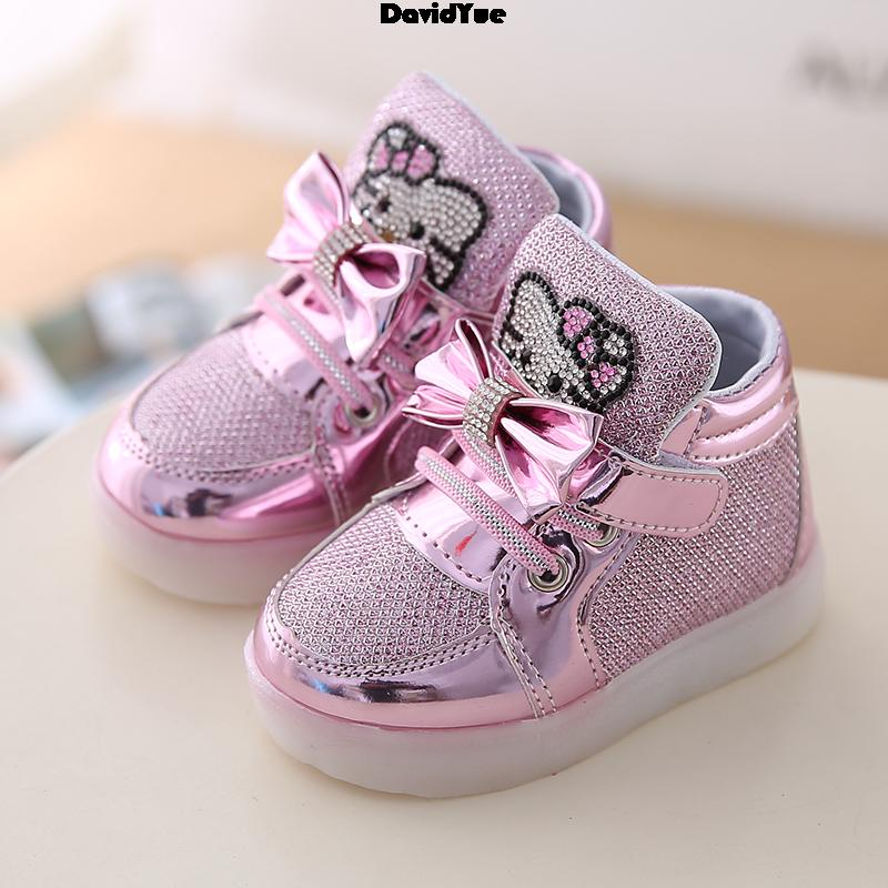 2016 New Autumn winter shoes hot sale Children's Fashion Sneakers Kids Shoes Chaussure Enfant KT Girls boys boots