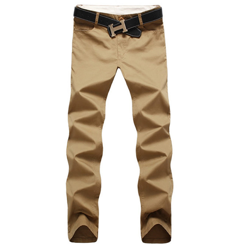 2016 New Fashion men pants cotton washed casual pants men straight trousers 9 colors plus size 28~44 men's clothing