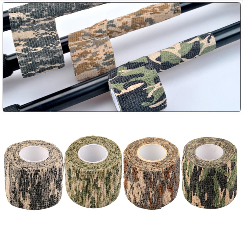 2016 New Hot 1 Roll Men Army Adhesive Camouflage Tape for Outdoor Hunting Stealth Wrap free shipping