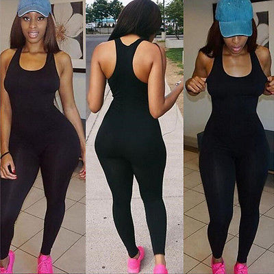 2016 Woman Clothes Woman Jumpsuit Sleeveless Solid New Women Casual Sleeveless Bodycon Romper Jumpsuit Club Bodysuit Long Pants