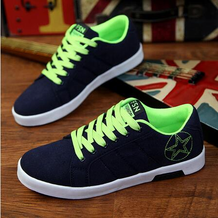 2016 new autumn mens canvas shoes Korean nice casual shoes the low heeled shoes for men