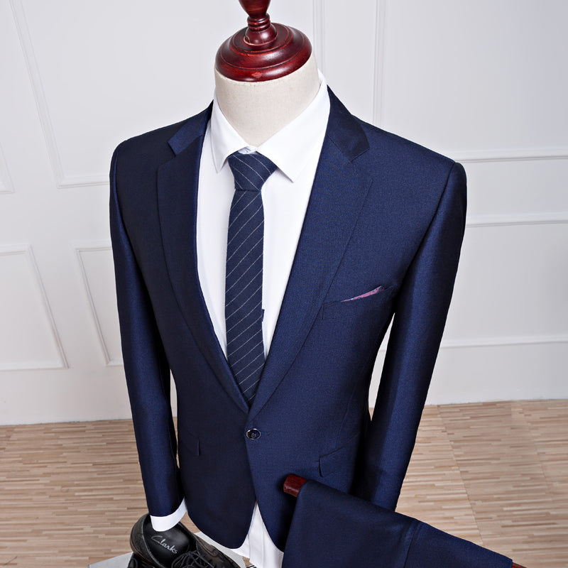 2016 new autumn wedding navy blue suits men,blazer men,men's navy blue business suits,men's Dress suits, size M-4XL