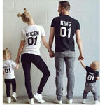 2016 summer Family Matching Outfits Short-sleeved Cotton matching family clothes T-shirt Family Look Family matching clothes